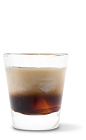 The Chocolate Coffeecake drink recipe is a cream colored dessert cocktail made from UV Chocolate Cake vodka, Kahlua coffee liqueur and light cream, and served over ice in a rocks glass.