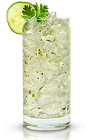 The Citron Sipper is a relaxing clear colored drink made from New Amsterdam citron vodka, cucumber, cilantro, simple syrup and lemon-lime soda, and served over ice in a highball glass.