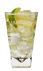 The Jameson and Soda is a popular Saint Patrick's Day drink. Made from Jameson Irish whiskey, club soda and lime, and served over ice in a highball glass.