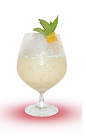 The Coco Napoleon is a cream colored tropical delight perfect for sitting at the beach or poolside. Made from Mandarine Napoleon orange liqueur, coconut milk, simple syrup, lemon juice, mint and orange bitters, and served over ice in a parfait glass.