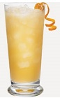 The Cream Cooler drink recipe is an orange colored cocktail made from Burnett's whipped cream vodka, pineapple juice and orange juice, and served over ice in a highball glass.