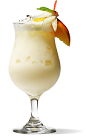 The Creamsicle drink recipe is made from vanilla liqueur, vanilla vodka, orange juice and half-and-half, and served blended with ice in a tall glass.