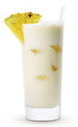 The Cruzan Colada is a cream colored tropical drink recipe made from Cruzan white rum, pineapple juice and coconut cream, and served over ice in a highball glass.