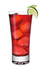 The Grape and Cranberry is a red colored drink made from Smirnoff grape vodka, lime and cranberry juice, and served over ice in a highball glass.