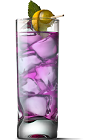 The Grape Ape drink recipe is a purple colored cocktail made from UV Grape vodka, lemon-lime soda and sweet & sour mix, and served over ice in a highball glass.