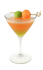 The Green on Orange Melon is a green and orange colored cocktail made from Smirnoff melon vodka, Midori melon liqueur, melon and lemon juice, and served in a chilled cocktail glass.