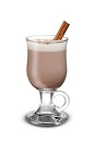 The Hot Mint Chocolate is a brown colored drink served in an Irish coffee glass, and Made from Baileys iwth a Hint of Mint Chocolate, hot chocolate and whipped cream,.