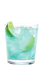 The Hpnotiq Caipirinha is a variation of the classic Brazilian caipirinha drink. A blue drink, made from Hpnotiq liqueur, rum and lime, and served over ice in a rocks glass.