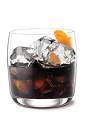 The Kahlua on the Rocks is a classic drink made from Kahlua coffee liqueur and orange, and served over ice in an old-fashioned glass.