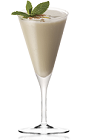 The Kilimanjaro Amarula is a brown colored drink made from vodka, Amarula cream liqueur, white creme de menthe and vanilla ice cream, and served in a chilled cocktail glass.