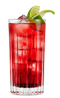 The L'Autentico and Cranberry drink is made from Galliano L'Autentico, cranberry juice and lime, and served over ice in a highball glass.