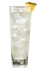 The Classic Pina Colada is made from Bacardi rum and pina colada mix, and served over ice in a highball glass.