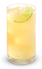 The Lower East Side is a well balanced golden colored drink made from New Amsterdam gin, lime juice, honey and club soda, and served over ice in a highball glass.