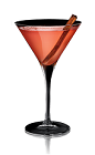 The Madame X cocktail recipe is made from X-Rated Fusion liqueur, apple juice and cinnamon, and served in a chilled cocktail glass.