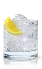 The New Amsterdam Citron and Soda is a clear colored drink made from New Amsterdam citron vodka, club soda and lemon, and served over ice in a rocks glass.