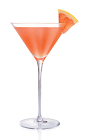 The O Seduction cocktail is made from Stoli Ohranj orange vodka, grapefruit juice, agave nectar, lemon juice and pomegranate juice, and served in a chilled cocktail glass.