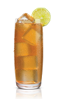 The Peachtree Smash is made from Stoli Peachik peach vodka, lemon juice, agave nectar, grenadine and peach iced tea, and served over ice in a highball glass.