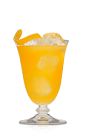 If you have a passion for rum like we do, then this is the drink for you. The Q Passion cocktail is an orange colored drink recipe made from Don Q rum and passion fruit juice, and served over ice in a rocks glass.