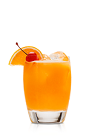 The Q Punch is an orange colored drink recipe made from Don Q Anejo rum, pineapple juice, orange juice and grenadine, and served over ice in a rocks glass.