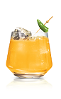 The Red Hot Screw drink is made from Stoli Hot jalapeno vodka and fresh orange juice, and served in an old-fashioned glass.