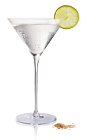 The Spiced Pear Martini is made from Stoli 100 vodka, pear juice, lime and cayenne pepper, and served in a chilled cocktail glass.