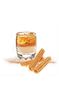 The Churro Margarita cocktail is made from Cabo Wabo tequila, Licor 43, Carolans Irish cream and Tuaca, and served in a cinnamon and sugar-rimmed rocks glass.