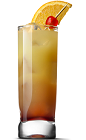 The Vanilla Iced Tea drink recipe is made from UV Vanilla vodka, tequila, rum, gin, cola and lemon juice, and served over ice in a highball glass.
