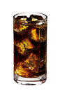 The Vodka and Coke drink is made from Smirnoff vodka, Coca-Cola and lime, and served over ice in a highball glass.