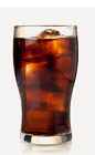 The Classic Cola drink recipe combines the flavors of cherry and cola in a tall brown colored cocktail. Made from Burnett's cherry cola vodka and Coca-Cola, and served over ice in a highball glass.