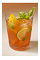 The Beach Bum is a traditional beach-themed drink recipe. A red colored drink made from rum, Clamato tomato cocktail, lime, orange, basil and club soda, and served over ice in a highball glass.