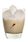 The Brown Cow drink is made from Smirnoff Root Beer vodka, Bailey's Irish cream and milk, and served over ice in a rocks glass.