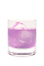 The Coco Berry Bliss is a purple drink made from Hpnotiq Harmonie, coconut vodka and club soda, and served over ice in a rocks glass.