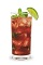 The Razz Mojito is a red colored drink made in the tradition of the classic mojito drink. Made from raspberry schnapps, light rum, simple syrup, lime juice, mint and club soda, and served over ice in a highball glass.