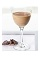 The Spiced Cake Martini is a brown colored drink made from Bailey's hazelnut flavored Irish cream, Smirnoff Iced Cake vodka and nutmeg, and served in a chilled cocktail glass.