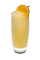 The Vitamin C drink is made from Smirnoff Orange vodka, peach liqueur, orange juice and lemon-lime soda, and served over ice in a highball glass.