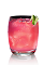 The X-Otica is an exotic pink colored drink recipe made from X-Rated Fusion liqueur and SKYY coconut vodka, and served over ice in a rocks glass.